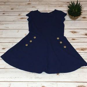Tommy Hilfiger Navy knit dress - Size 12/14 (Girl)